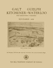 Image unavailable: Galt, Guelph, Kitchener-Waterloo, Telephone Directory - November, 1958
