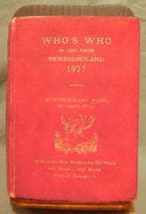 Who's Who in and from Newfoundland - 1927