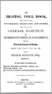 The Bristol Poll Book, 1837