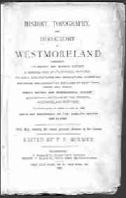 Bulmer's History, Topography and Directory of Westmoreland, 1885