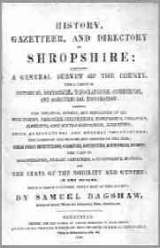 Bagshaw's, History, Gazetteer and Directory of Shropshire, 1851