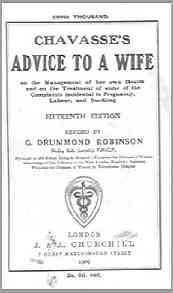 Chavasse's Advice to a Wife, (15th ed), 1909