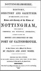 Image unavailable: Francis and John White, History, Directory and Gazetteer of the County, and of the Town and County of the Town of Nottingham, 1844