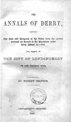 Image unavailable: Robert Simpson, The Annals of Derry, 1847