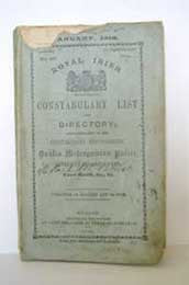 Royal Irish Constabulary List and Directory for the half-year commencing 1st January 1910, 1910.
