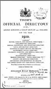 Thom's Official Directory of Ireland, 1910