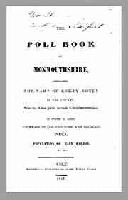 The Poll Book of Monmouthshire, 1847
