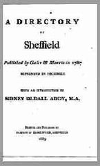 Image unavailable: A Directory of Sheffield, 1787