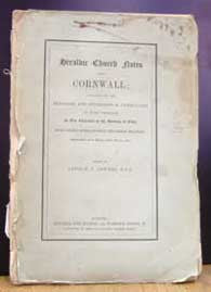 Arthur J. Jewers (Ed.), Heraldic Church Notes from Cornwall, 1887