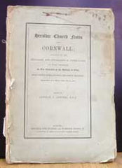 Image unavailable: Arthur J. Jewers (Ed.), Heraldic Church Notes from Cornwall, 1887