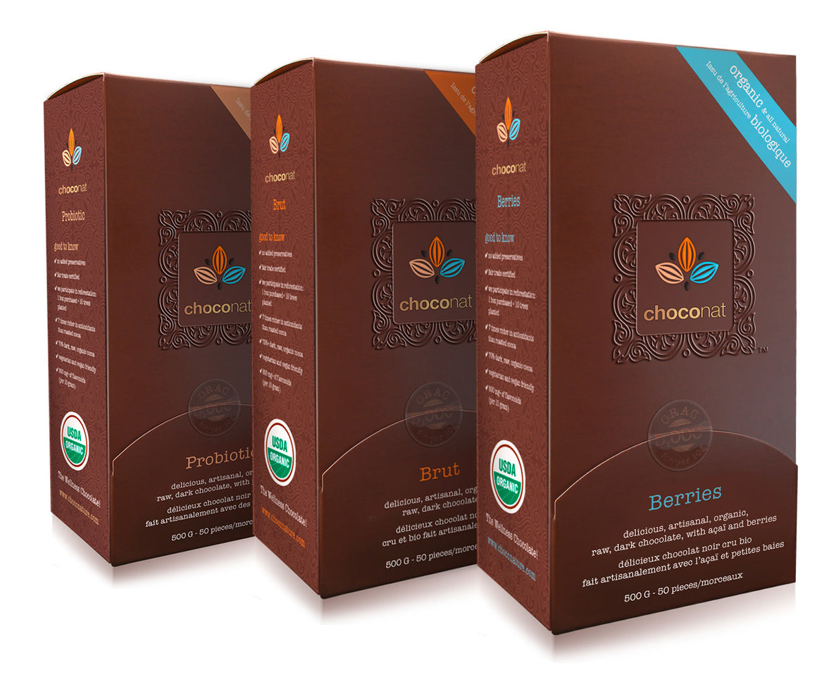 Raw organic dark chocolate GMO free sugar free, and gluten free