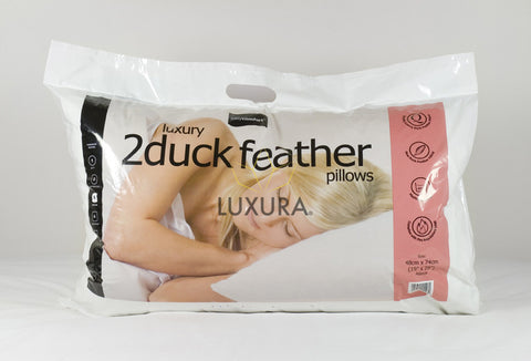 Duck Feather Pillows - Pair