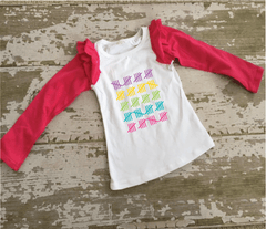 100th Day of School Baseball Ruffle Shirt