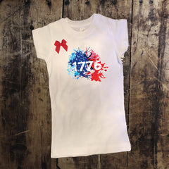 1776 4th of July Shirt with Bow