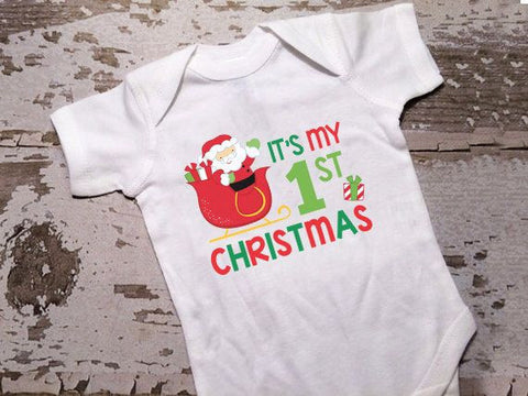 It's My 1st Christmas Onesie