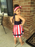 4th of July Halter Dress