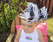 Absolute Black and White Boutique Bow