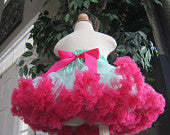 Aqua and Hot Pink Pettiskirt