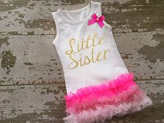 Copy of Gold Glitter Little Sister Tunic with Bow