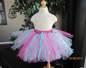 Blue and Hot Pink Tutu with Ribbon Accents