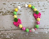 Bow Garden Chunky Bead Necklace