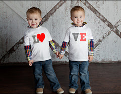 LOVE Twin Shirt Set