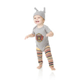 Brave Braxton Onesie, Legwarmers and Hat Set
