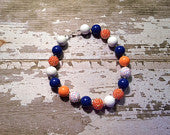 Chicago Bears/U of I/Denver Broncos/Florida Gators Inspired Chunky Bead Necklace