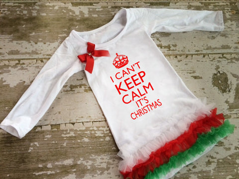 I Can't Keep Calm Its Christmas Tunic With Bow