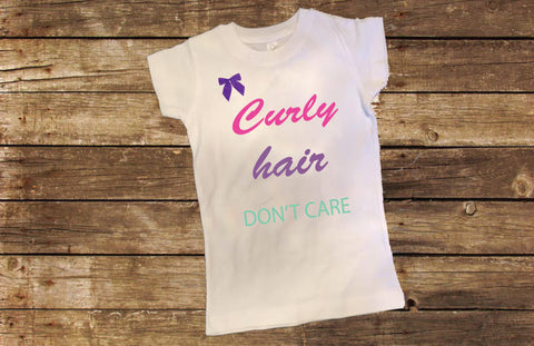 Curly Hair Don't Care Shirt with Bow