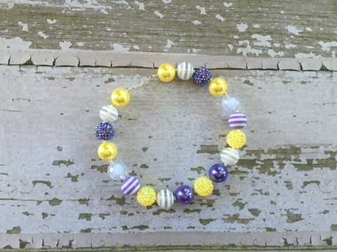 Minnesota Vikings Inspired Chunky Necklace