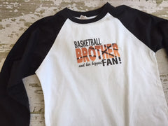 Basketball Brother and Her Biggest Fan Baseball Tshirt
