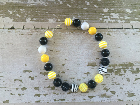 Pittsburgh Steelers Inspired/Bumblebee Necklace