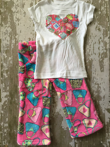 Love Handbags Fleece Pajama Pant Set