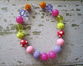 Garden Fairy Chunky Bead Necklace