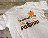 Happy Thanksgiving From This Little Pilgrim Shirt