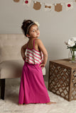 Pink Cropped Top Maxi Dress