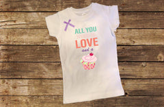 All You Need is Love and a Cupcake Shirt with Bow