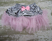 Light Pink Sparkle Zebra Tutu