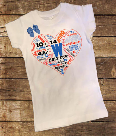 Chicago Cubs History Shirt with Bow