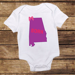Alabama Born Shirt with Bow