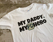 My Daddy, My Hero Police Department Shirt
