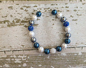 New York Yankees and Indianapolis Colts Inspired Chunky Bead Necklace