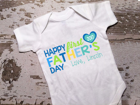 Personalized Happy First Fathers Day Shirt