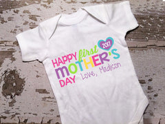 Personalized Happy First Mother's Day Shirt with Bow