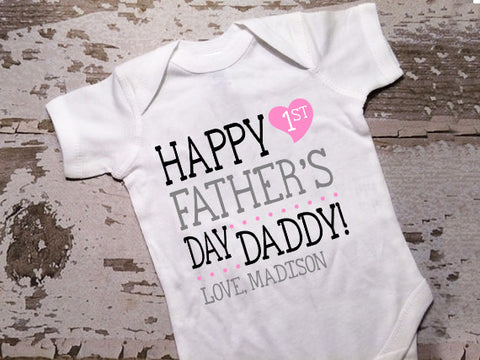 Pesonalized Happy Fathers Day Shirt