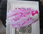 Pink and White Feather Nargorie Headband