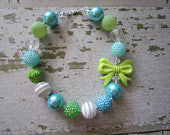 Seascape Chunky Bead Necklace