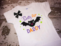 Batty for Daddy Shirt with Bow