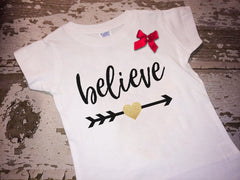 Believe Shirt with Bow
